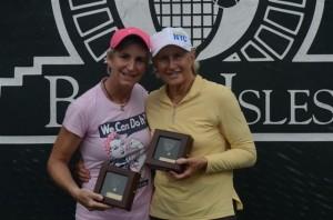 Bronze Ball winners MarianneCaplan andTrishFaulkner