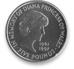 Princess Diana memorial coin received from The Royal Mint