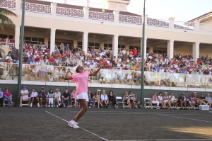 Venus Williams at BallenIsles Country Club Celebrity Tennis Exhibition