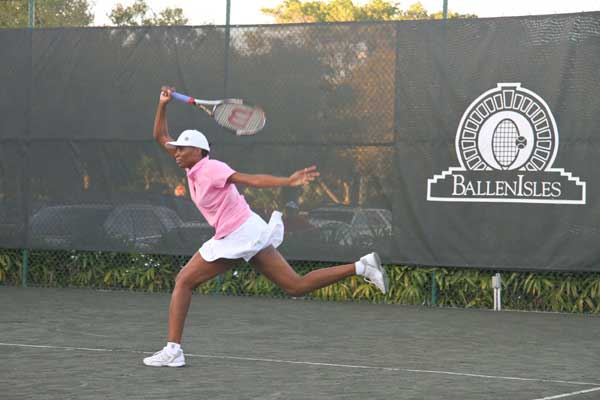 Venus and Serena Williams face off at BallenIsles Country Club