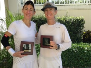 USTA 50s Singles Winner Fran Chandler with Finalist Shelly Works