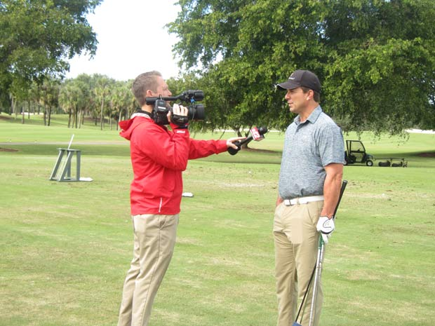 TV news captures the excitement at The Falls Club of the Palm Beaches