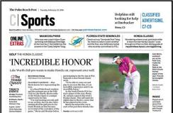 The Falls Club of the Palm Beaches assistant Golf Pro Alan Morin competes in 2016 Honda Classic