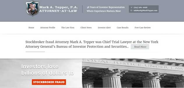 New Website Redesign for  Law firm of Mark A. Tepper