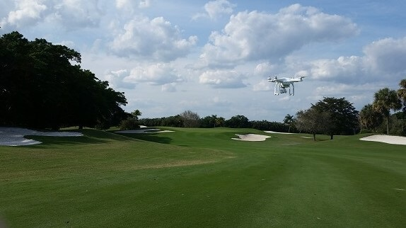 UFO over golf course? or marketing private golf clubs?