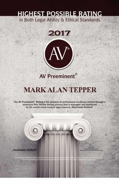 On Heels of FINRA Arbitration Awards Attorney Mark A. Tepper Earns Peer Award